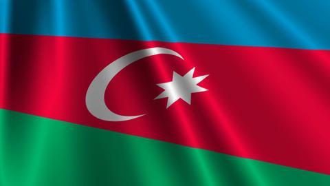 AzerbaijanFlagLoop03 Stock Video Footage