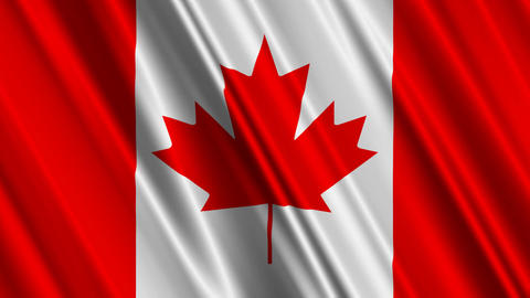 CanadaFlag01 Stock Video Footage