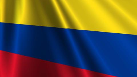 ColombiaFlagLoop03 Stock Video Footage