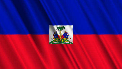 HaitiFlagLoop01 Stock Video Footage