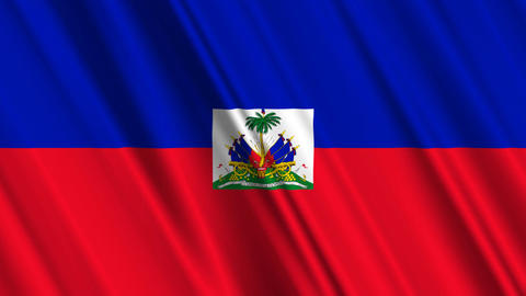 HaitiFlagLoop01 Stock Video Footage