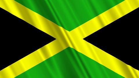 JamaicaFlagLoop01 Stock Video Footage