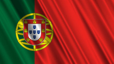 PortugalFlagLoop01 Stock Video Footage