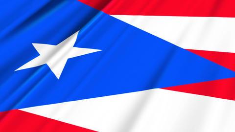 PuertoRicoFlagLoop02 Stock Video Footage
