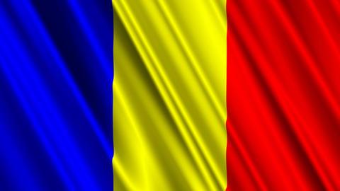 RomaniaFlagLoop01 Stock Video Footage
