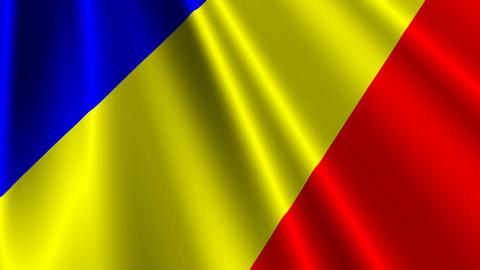 RomaniaFlagLoop03 Stock Video Footage