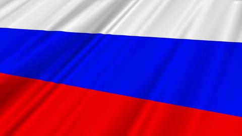 RussiaFlagLoop02 Stock Video Footage
