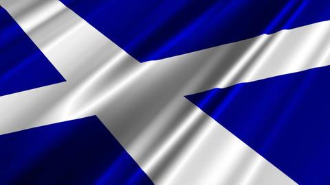 ScotlandFlagLoop02 Stock Video Footage