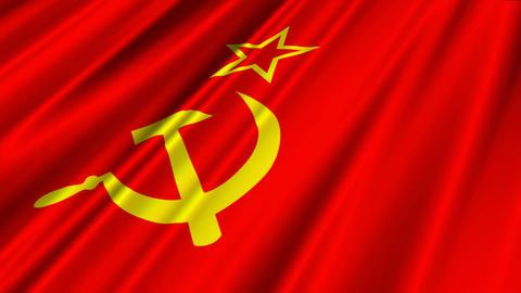SovietFlagLoop02 Stock Video Footage