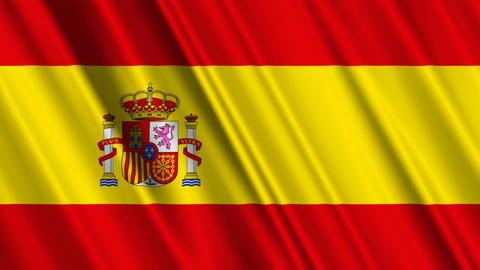 SpainFlagLoop01 Stock Video Footage