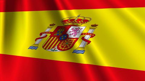 SpainFlagLoop03 Stock Video Footage