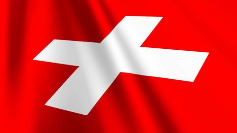 SwitzerlandFlagLoop03 Stock Video Footage