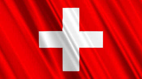 SwitzerlandFlagLoop01 Stock Video Footage