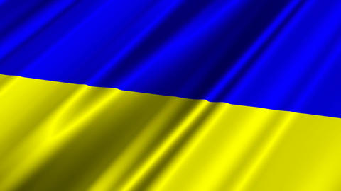 UkraineFlagLoop02 Stock Video Footage