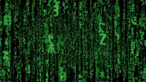 Matrix Code Fly LOOP stock footage