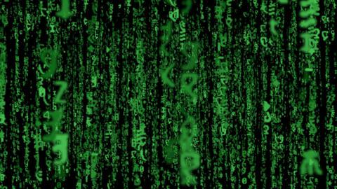matrix code fly LOOP Stock Video Footage