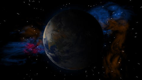 Earth Spin More Stars Stock Video Footage