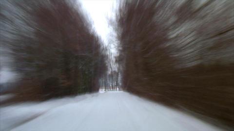 rallye winter drive snow Stock Video Footage