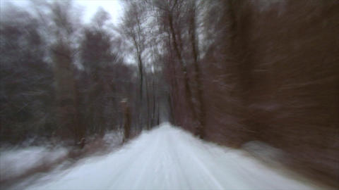 rallye winter drive snow Stock Video Footage