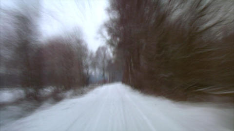 rallye winter drive snow Footage