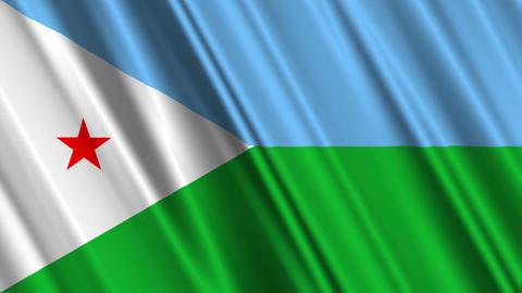 DjiboutiFlagLoop01 Stock Video Footage