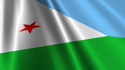 DjiboutiFlagLoop03 Stock Video Footage
