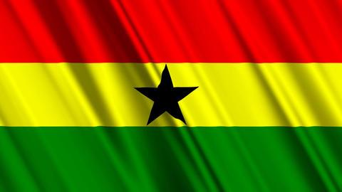 GhanaFlagLoop01 Stock Video Footage