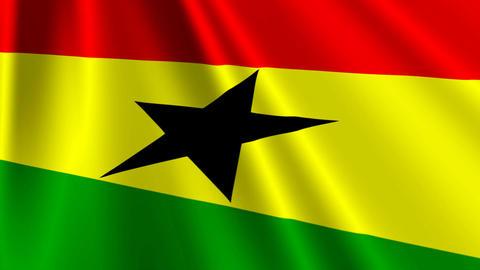 GhanaFlagLoop03 Stock Video Footage