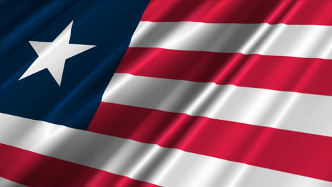 LiberiaFlagLoop02 Stock Video Footage
