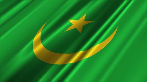 MauritaniaFlagLoop02 Stock Video Footage