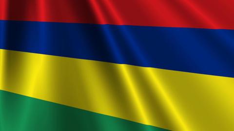 MauritiusFlagLoop03 Stock Video Footage