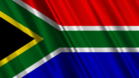 SouthAfricaFlag01 Stock Video Footage