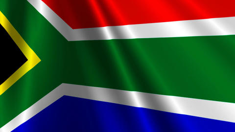 SouthAfricaFlag03 Stock Video Footage