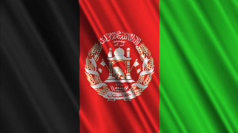 AfghanistanFlagLoop01 Stock Video Footage