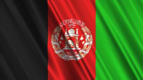 AfghanistanFlagLoop01 Stock Video Footage