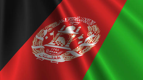 AfghanistanFlagLoop03 Stock Video Footage