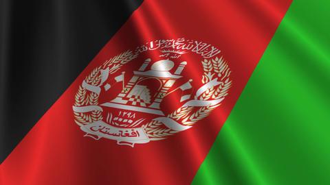 AfghanistanFlagLoop03 Stock Video Footage