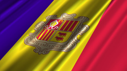 AndorraFlagLoop02 Stock Video Footage
