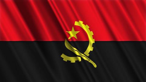 AngolaFlagLoop01 Stock Video Footage