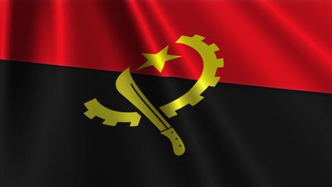 AngolaFlagLoop03 Stock Video Footage