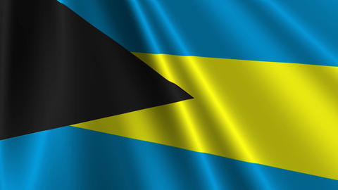 BahamasFlagLoop03 Stock Video Footage