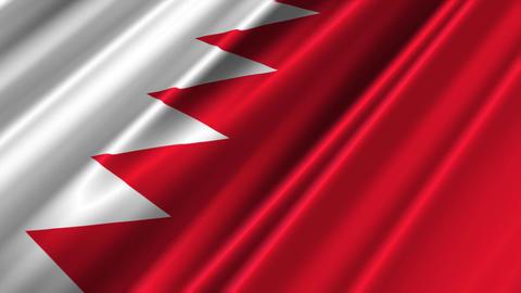 BahrainFlagLoop02 Stock Video Footage