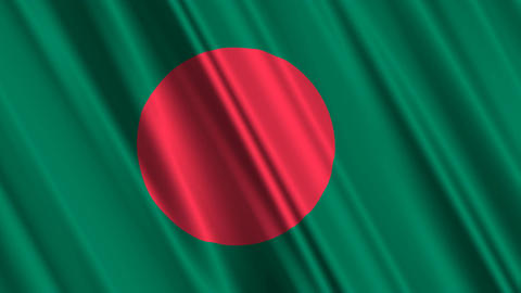 BangladeshFlagLoop01 Stock Video Footage