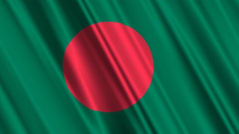 BangladeshFlagLoop01 Stock Video Footage