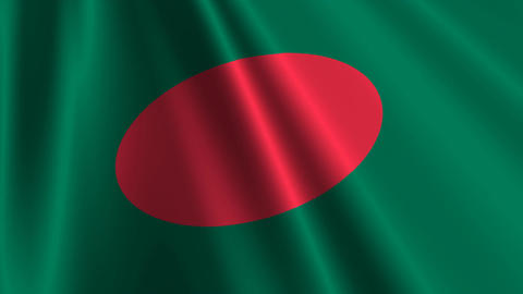 BangladeshFlagLoop03 Stock Video Footage
