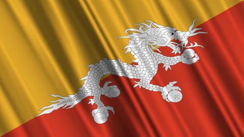 BhutanFlagLoop01 Stock Video Footage