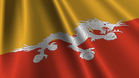 BhutanFlagLoop03 Stock Video Footage