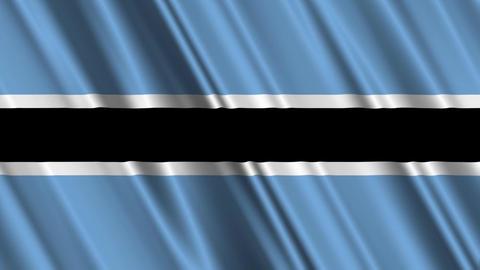 BotswanaFlagLoop01 Stock Video Footage