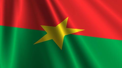BurkinaFasoFlagLoop03 Stock Video Footage