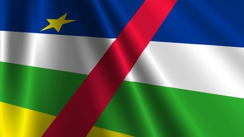 CentralAfricaFlagLoop03 Stock Video Footage